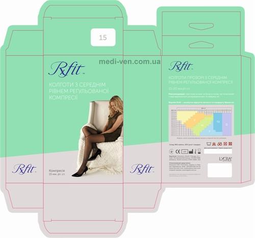 Женские компрессионные колготы RxFit с умеренной компрессией (профилактические)