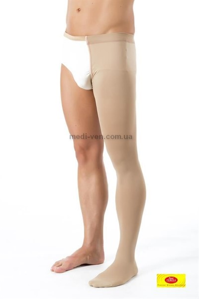 Компрессионный чулок с поясом Pani Teresa 2 класс компрессии для женщин и мужчин закрытый носок
