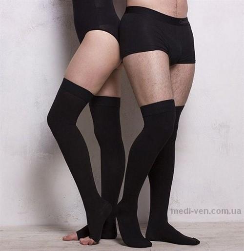 Медицинские компрессионные чулки для мужчин Ifeel (Англия)второго класса компрессии с открытым и закрытым носком