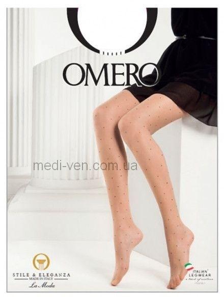 Женские матовые фантазийные колготки Omero Sophia 15 den с классической посадкой на талии