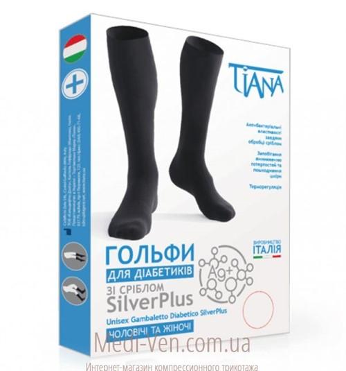 Медицинские гольфы для диабетиков Tiana SilverPlus с серебром
