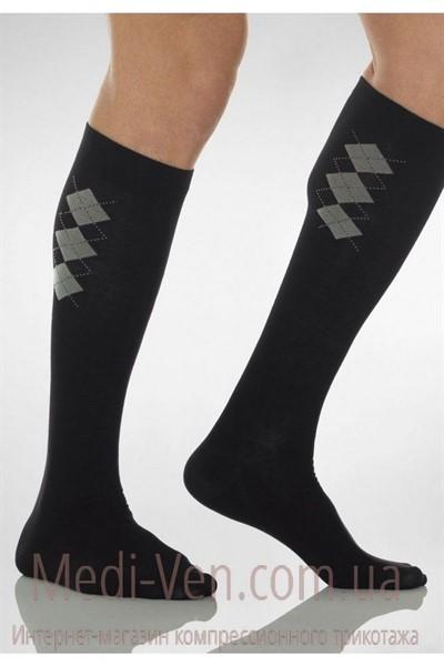 57% ХЛОПОК МУЖСКИЕ компрессионные гольфы С МАССАЖНОЙ ПОДОШВОЙ Relaxsan Cotton Socks 1 класс компрессии закрытый носок